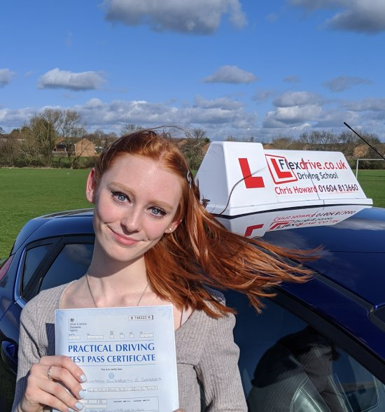 Driving Lessons in Wellingborough | Niamh passed with Flexdrive Driving School